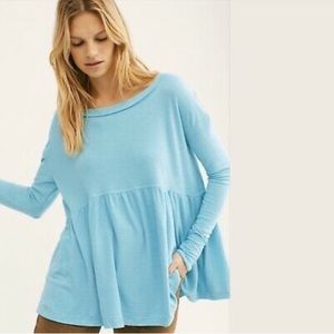 NWT Free People Forever Your Girl Babydoll Top
